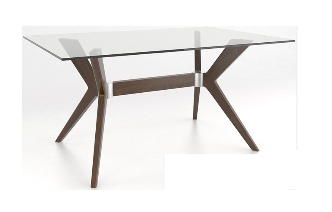 Dining Tables Downtown Collection Glass Table With Pedestal
